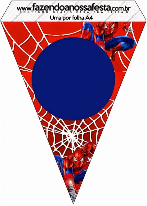 printable spiderman birthday banner spiderman free party printables and images oh my