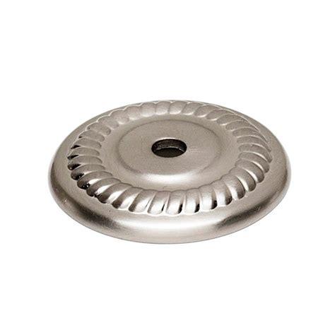 cabinet knob backplates satin nickel alno creations shop a813 14p sn knob backplate satin