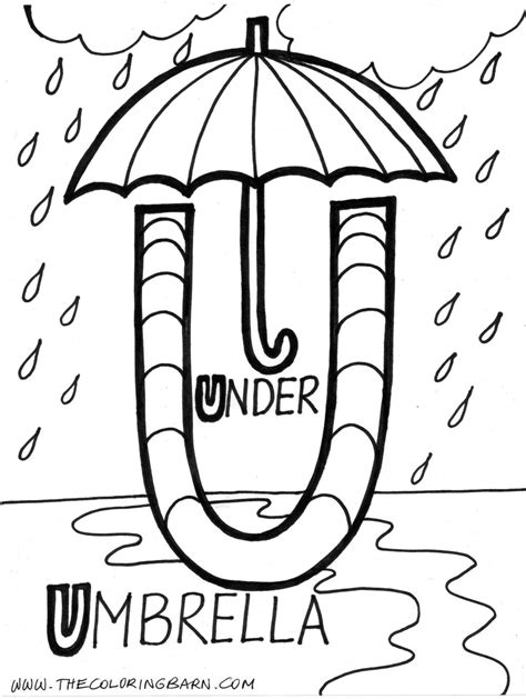 large letter u coloring pages