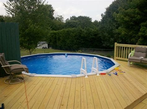 Pool Deck Designs For Above Ground Pools : Beauty and