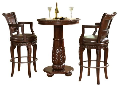 Pub Table Dining Set Steve Silver Antoinette 3 Pub Table Set Traditional Dining Sets By Beyond Stores