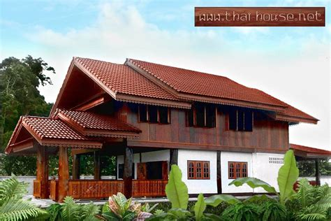 pictures details thai wooden house planning