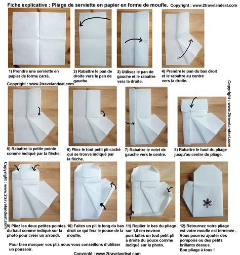 Serviette De Table Pliage by Pliage De Serviettes De Table En Papier Pliage De Papier