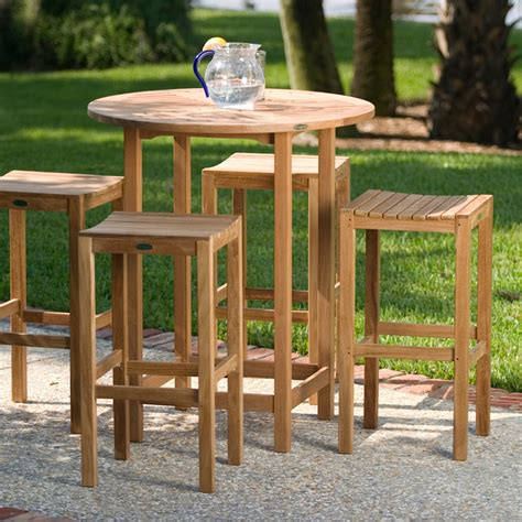 outdoor bar stool sets somerset teak bar stool and bar table set westminster