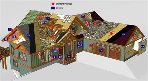 House Design Ideas Floor Plans 3d Prefab Home Packages From Tamlin Timberframe Homes