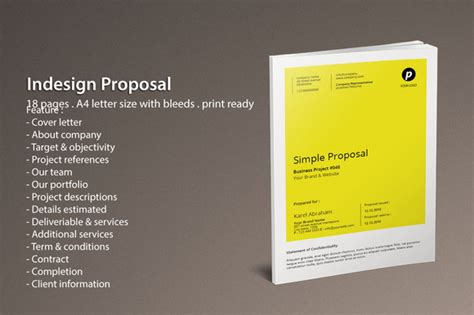 free indesign proposal templates 187 designtube creative