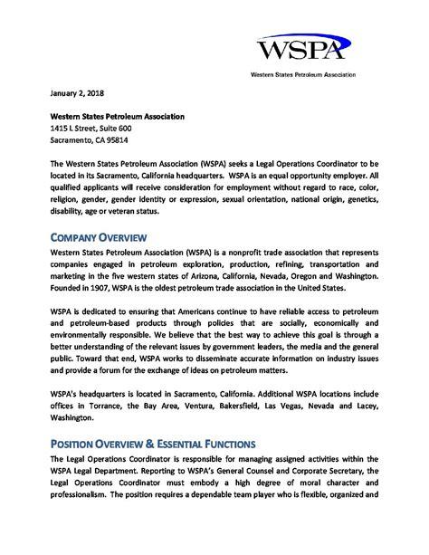 wspa operations coordinator position description 01 02 2018 western states petroleum