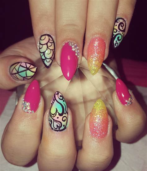 colorful nail colorful nail ideas nail designs