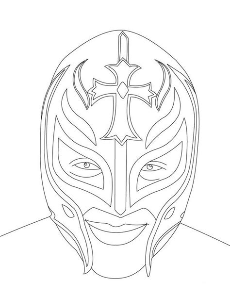 wwe lucha dragons coloring page wwe superstars colouring pages luchador pinterest