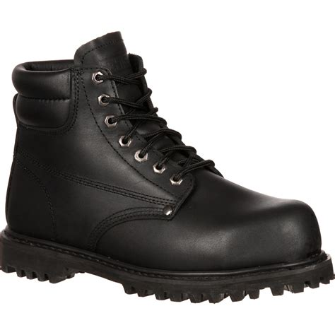 safety boots for 6 quot black steel toe work boots lehigh safety shoes 5236