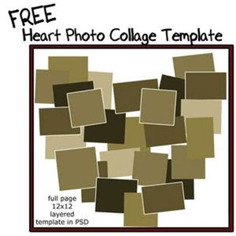 11 Heart Collage Template Psd Images Heart Collage Template Free Heart Collage Template And Free Shaped Photo Collage Template