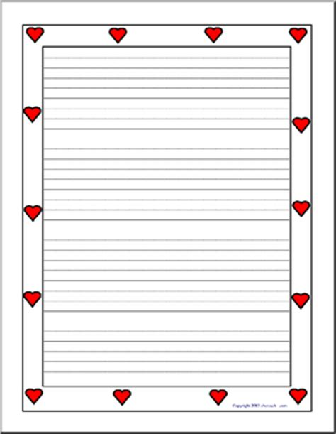 printable writing paper upper elementary writing paper hearts upper elementary abcteach