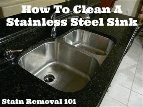 how to clean stainless steel sink tips tricks
