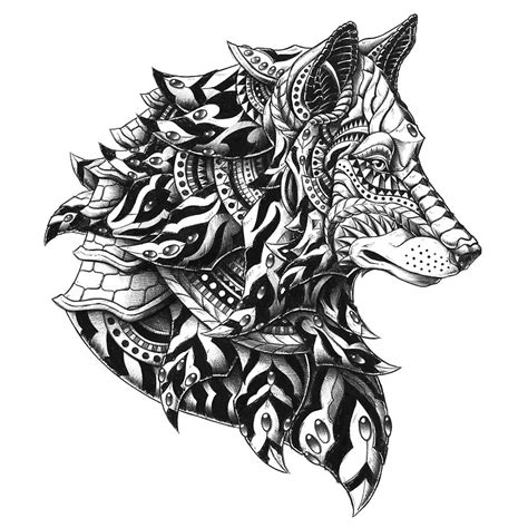 quot wolf profile quot stickers by bioworkz redbubble