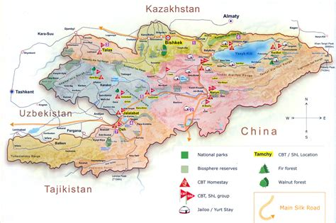 kyrgyzstan map kyrgyzstan community based tourism