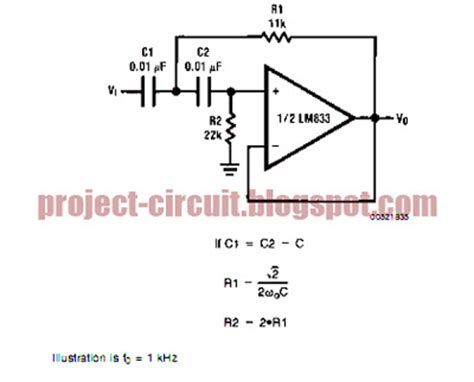 high pass filter circuit free project circuit diagram the butterworth second order high pass filter circuit