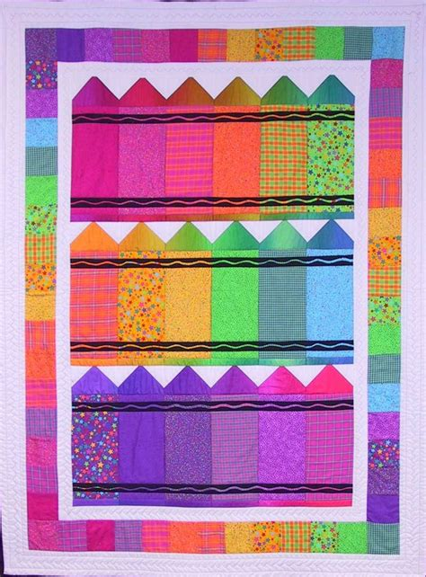 crayons a colorful crib quilt quilty pleasures