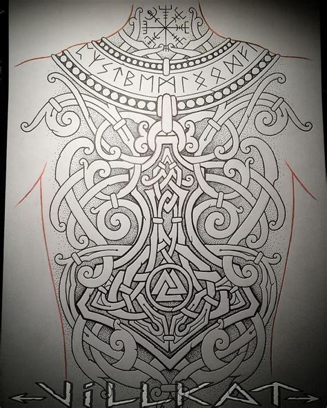 viking art tattoo designs norse inspired back what do you think by villkat