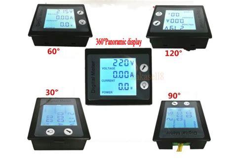 Watt Meter Ac 220 Volt 100a 4 Display Din Rel ac 100a 80 260v 110v 220v digital lcd power panel meter monitor power voltmeter ammeter watt