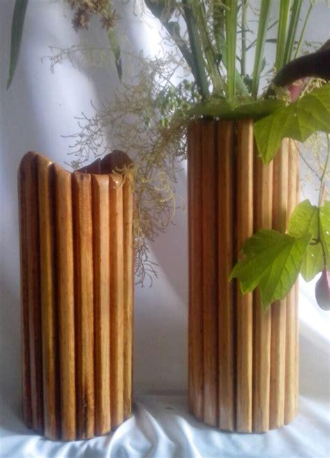 floreros en madera floreros modernos de madera bs 40 436 000 00 en mercado