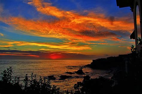 you seen a sunset before books sunset in laguna the sun glows an erie because