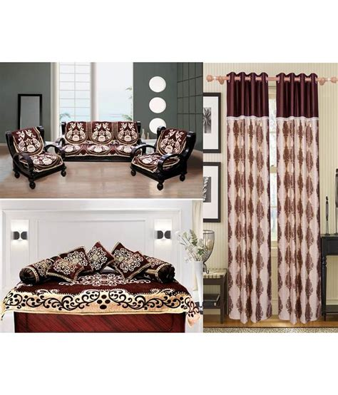 Sofa And Curtain Combination by Fk Multicolour Floral Sofa Cover Divan Set Curtain