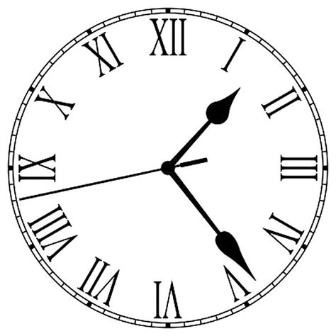 printable roman numeral clock face free coloring pages of analog clock