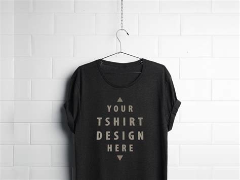download t shirt layout psd realistic hanging t shirt mockup free psd psdfinder co