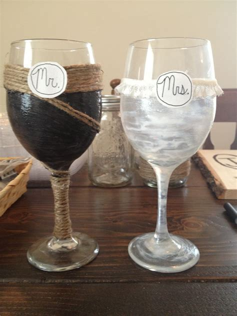 17 Best images about Wedding Wine Glasses on Pinterest