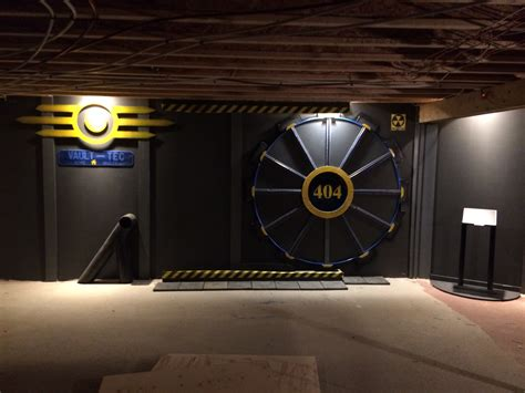 man builds fallout vault tec door for his gaming room