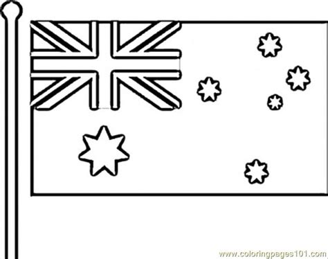 flag of australia coloring page free australia coloring