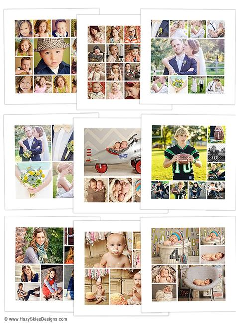 collage templates for photographers story board collage template for photographers digital