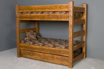 Log Bunk Beds With Trundle Trundle Barnwood Bunk Beds Generation Log Furniture