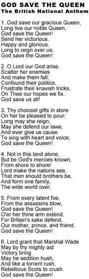 full version us national anthem god save the queen national anthem lyrics full