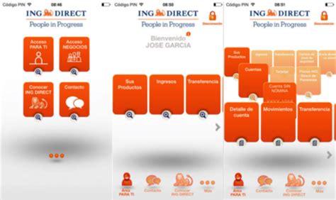 banco ing direct un vistazo a las dos apps bancarias de ing direct