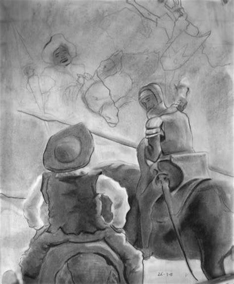 imagenes de don quijote a lapiz don quijote y sancho panza escena lydia blanco