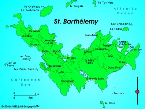 st barts map map of st barthelemy