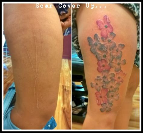 tattoo cover up exles scar tattoos