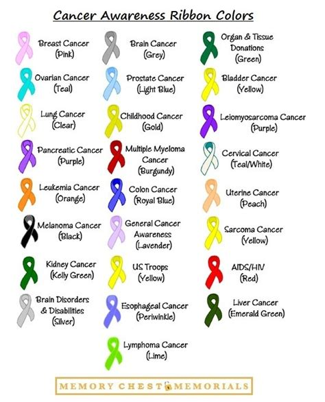 cancer awareness ribbon colors cancer awareness ribbon colors show your support