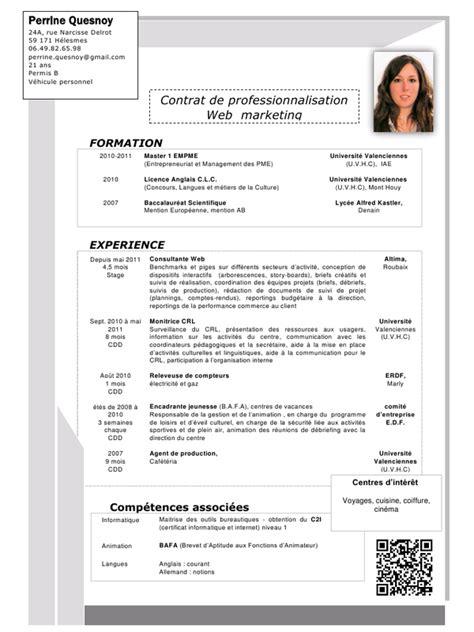 Plantilla De Curriculum Trackid Sp 006 Exemple Cv Allemand Informatique Cv Anonyme