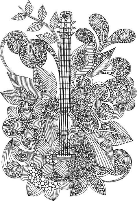 valentina designs coloring pages ever guitar art print by valentina harper