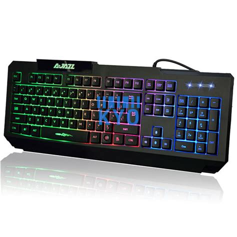 Keyboard Laptop Led ajazz x5pro gaming keyboard 7 colorful led backlit wired keyboard computer laptop usb external