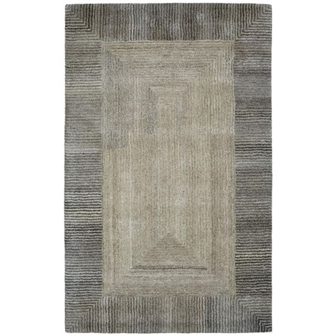 2 X 4 Area Rugs Dynamic Rugs Posh Border Grey 2 Ft X 4 Ft Area Rug Po247810727 The Home Depot