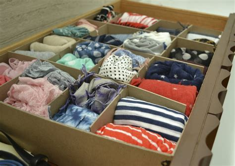 Scarf Drawer Organizer by Organization Scarves