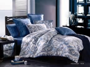 blue king size comforter aliexpress buy luxury paisley cotton satin