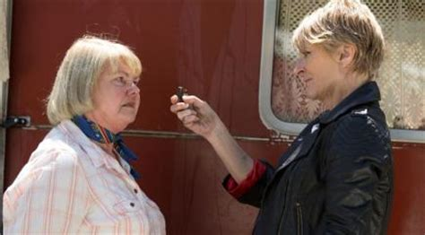 eastenders shirley loses it and threatens to set to