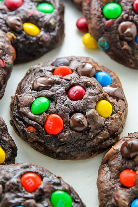 Mm Chocolate soft batch chocolate m m cookies baker by nature