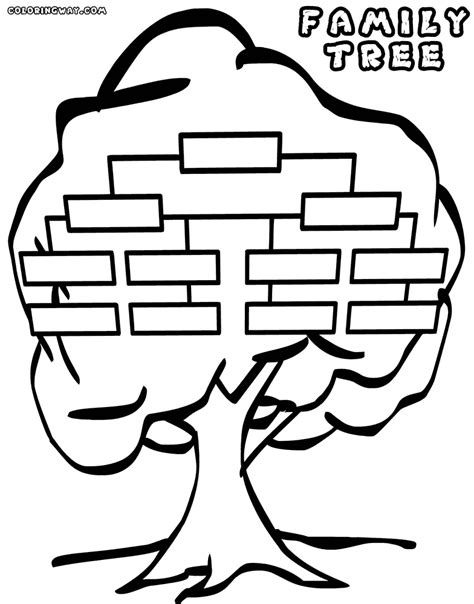 coloring page family tree family tree coloring pages coloring pages to download