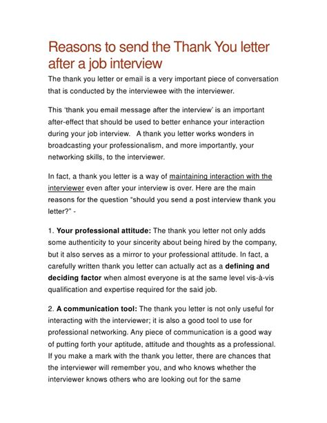 .free interview thank you letter template samples