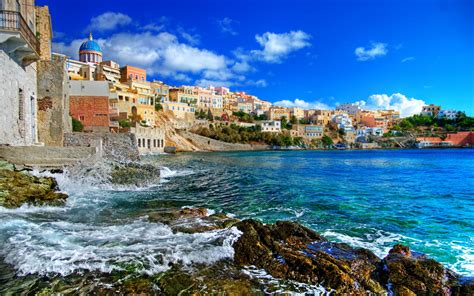 hd wallpaper 1920x1080 greece greek islands series syros full hd wallpaper and